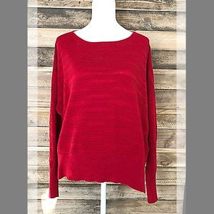DKNY textured sweater in cherry